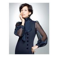 鈴木保奈美さんご着用 ドラマSUITS「スーツ1」 オーガンジーお袖付きネイビーワンピース