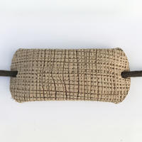 革のヘアゴム(ダークベージュパターン)