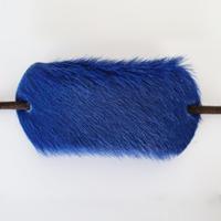 革のヘアゴム(ブルーホース)