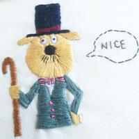 Mr. NICE (刺繍作品)