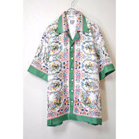 CLASSIC FLOWER SCARF SHIRT  (WHITE)