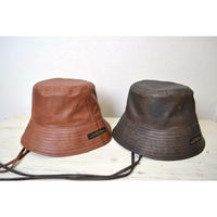 BEGAN LETHER STRAP BUCKET HAT (DARK BROWN / BROWN)