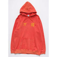 BLEACHED COEXISTENCE HOODIE(RED)