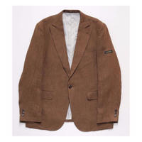 LINEN WASHED JACKET (BROWN)