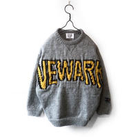 HAND KNITTING COLLEGE SWEATER (GREY)