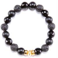 Marble Stone & Gold Charm Bracelet
