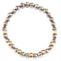 Pyrite & Gold beads Bracelet