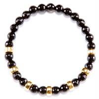 Onyx & Gold beads Bracelet