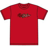 ROSE AND SNAKE S/S TEE / Red