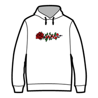 ROSE AND SNAKE HOODIE / White