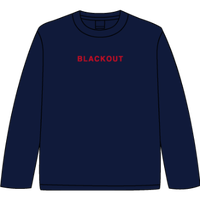 BLACKOUT LOGO L/S TEE / Navy