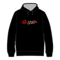 ROSE AND SNAKE HOODIE / Black