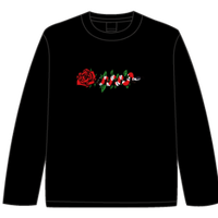 ROSE AND SNAKE L/S TEE / Black