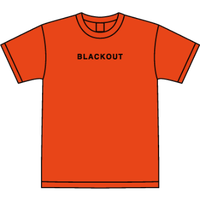BLACKOUT LOGO S/S TEE / Orange