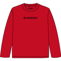 BLACKOUT LOGO L/S TEE / Red