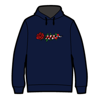 ROSE AND SNAKE HOODIE / Navy