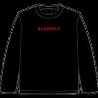 BLACKOUT LOGO L/S TEE / Black