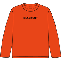 BLACKOUT LOGO L/S TEE / Orange