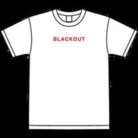 BLACKOUT LOGO S/S TEE / White