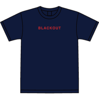 BLACKOUT LOGO S/S TEE / Navy