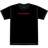 BLACKOUT LOGO S/S TEE / Black