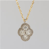 Bloom diamond necklace YG PT