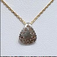 Paisley brown diamond necklace PT YG