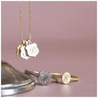 Alphabet charm shield silver