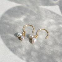 Baby akoya pearl hook earrings