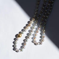Baroque akoya pearl long necklace