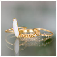 Collet opal ring