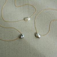 Kidney necklace black