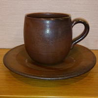 備前焼丸コーヒー碗皿