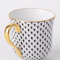 ヘレンドユニバーサルカップ/朝食カップヘレンドブラックフィッシュスケール