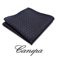 カネパ - イタリア製 ポケットチーフ ブルーグレー ウール&シルク WS-02