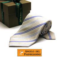 アンジェロ -「 愛が伝わる」天使のネクタイ イタリア製生地 シルク&リネン AG56