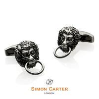 サイモンカーター - 英国製 カフリンクス ライオン・ドアノッカー 262045