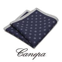 カネパ - イタリア製 ポケットチーフ ネイビー ウール W-06