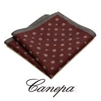 カネパ - イタリア製 ポケットチーフ ボルドー ウール W-02