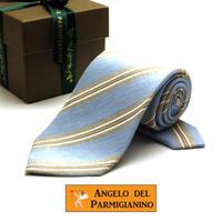 アンジェロ -「 愛が伝わる」天使のネクタイ イタリア製生地 リネン&シルク&コットン AG51