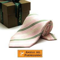 アンジェロ -「 愛が伝わる」天使のネクタイ イタリア製生地 シルク&リネン AG57