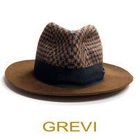 【訳あり】グレヴィ - ウールツイード 中折れ帽 MGR14A2002 ブラウン