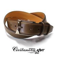 チビタノーバ - イタリア製 ハンドメイドベルト フリーサイズ ブッテロ カーキブラウン PM-1423