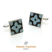 サイモンカーター - 英国製 カフリンクス アルハンブラ ブルー 267010