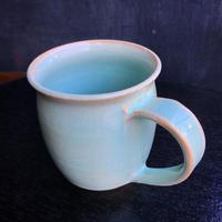 陶器 萩焼 和食器 作家 和モダン カフェ マグカップ 青磁 ブルー