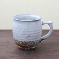 ◆◇陶器 萩焼 輪花◆◇ 白萩マグカップ c-10 白景山 作