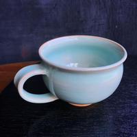 陶器 萩焼 和食器 作家 和モダン カフェ スープカップ マグカップ 青磁 ブルー