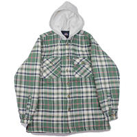 1990-00s Dickies Quilting Lining Shirts-Jacket (Green)