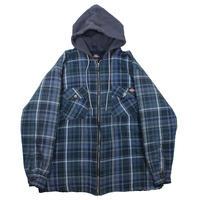1990-00s Dickies Quilting Lining Shirts-Jacket (Navy)