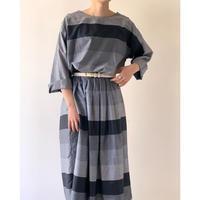 1980s Wide Pitch Striped Dress